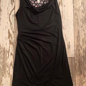 Athleta Dresses - Athleta dress, reversible, black/print size S